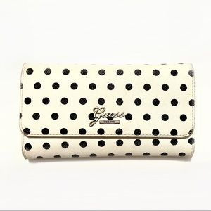 Guess Black And White Polka Dot Wallet